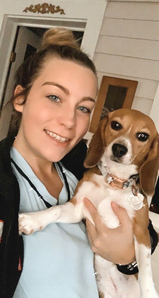 Christie and beagle